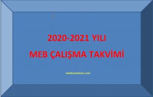 2020-2021 Yılı Çalışma Takvimi