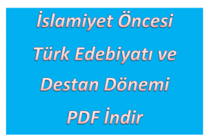 İslamiyet Öncesi Türk Edebiyatı Konu Testleri PDF