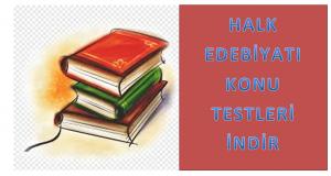 Halk Edebiyatı Test Soruları İNDİR PDF