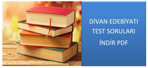 Divan Edebiyatı Test Soruları İndir PDF